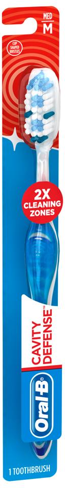 Oral-B Cavity Defense 40 Medium Bristle Toothbrush Carded Pack