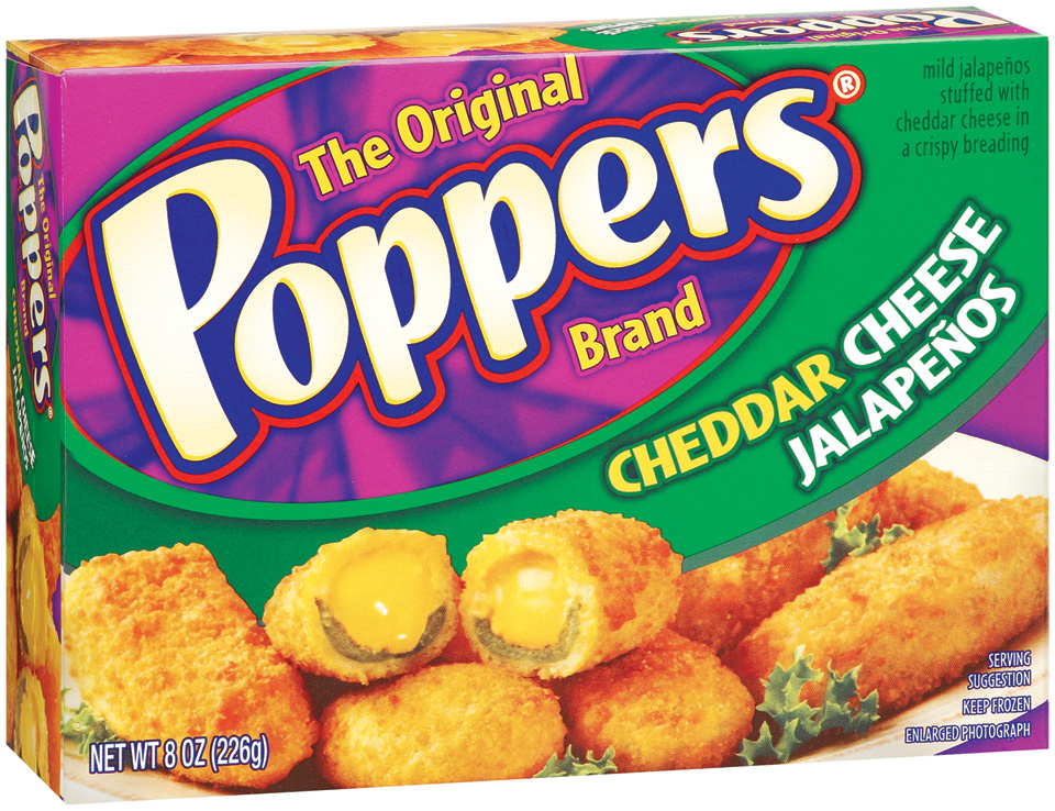 Poppers Cheddar Cheese Stuffed Jalapenos 8 Oz Box