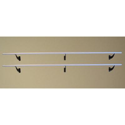 Vitavibe Wall Barre Series Modern Aluminum Double Bar Fixed Height Ballet Barre Kit Size: 8 ft.