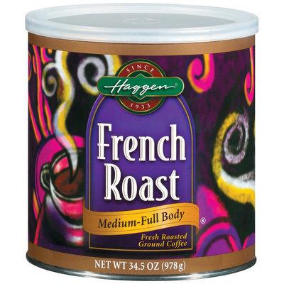Haggen French Roast Medium-Full Body Coffee 34.5 Oz Canister