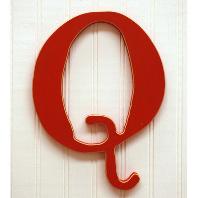 New Arrivals New Capital Letter - Q Color: Rusty Red