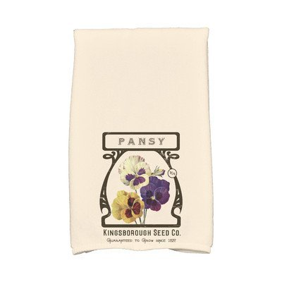 August Grove Sun Valley Pansy Hand Towel Color: Cream/Ivory