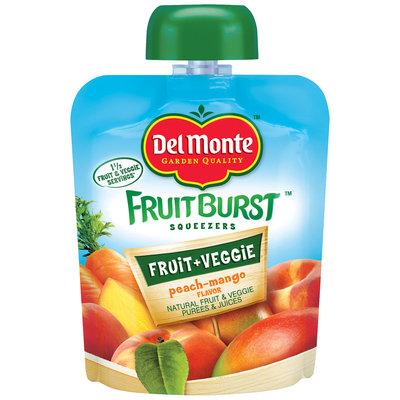 Del Monte™ Peach-Mango Flavor Fruit Burst Squeezers 3.2 oz. Pouch