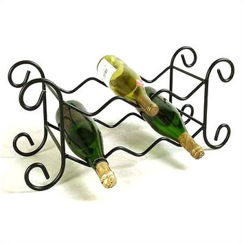 Grace 6 Bottle Wine Rack - Metal Finish: Gun Metal