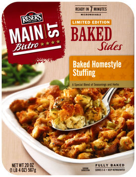 Reser's Fine Foods® Main St. Bistro® Baked Homestyle Stuffing Baked Sides 20 oz. Tray