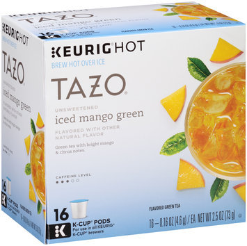 Tazo® Keurig® Hot Unsweetened Iced Mango Green Tea 16 ct Box