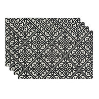 Chooty & Co. Lace It Up Ebony Lined Placemat - Set of 4