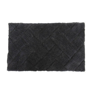 Sherry Kline Basket Weave Bath Rug Color: Black
