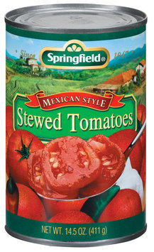 Springfield Stewed Mexican Style Tomatoes 14.5 Oz Can