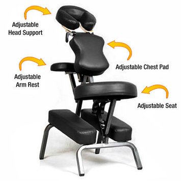 Vandue Corporation Ataraxia Leather Portable Massage Chair Color: Black