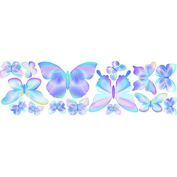 4 Walls Fluttering Butterfly Wall Decal Color: Blue