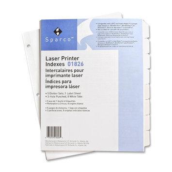 Sparco Laser Printer Indexing System Dividers