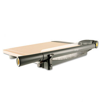 Westcott TrimAir Guillotine Trimmer with Microban Protection, Wood
