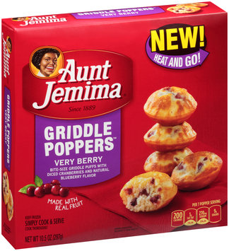 Aunt Jemima® Very Berry Griddle Poppers™ 10.5 oz. Box