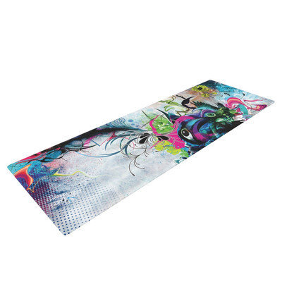 Kess Inhouse Streaming Eyes by Mat Miller Abstract Yoga Mat