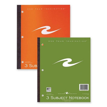 Roaring Spring Paper Ruled and Subject Notebooks Notebook, 3HP, CR