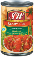 S&W® Ready-Cut Diced Tomatoes with Onion & Green Bell Pepper 14.5 oz. Can