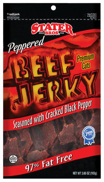 Stater Bros. Peppered 97% Fat Free Beef Jerky 3.65 Oz Peg