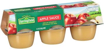 Springfield® Apple Sauce 6-4 oz. Cups
