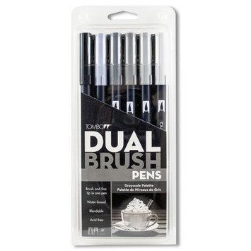Alvin 56166 Gray Scale Dual Brush Pen - Set of 6
