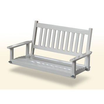 Garden Treasures 2-Seat Wood Traditional White Swing 854PSW-RTA