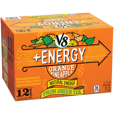 V8 +Energy Orange Pineapple Juice 12-12 fl. oz.