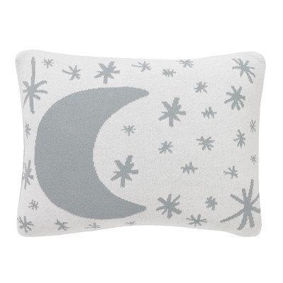 Dwellstudio Galaxy Knitted Boudoir Pillow in Dusk