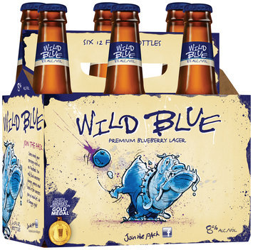 Wild Blue 12 Oz Beer 6 Pk Glass Bottles