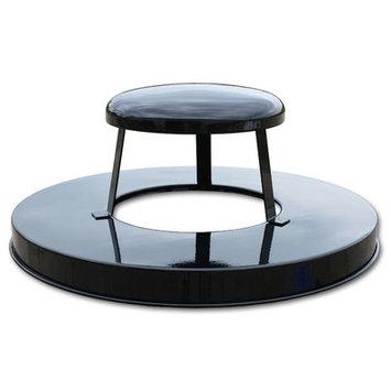 Witt Oakley Collection Rain Cap Lid for 24 Gallon Receptacle Color: Black