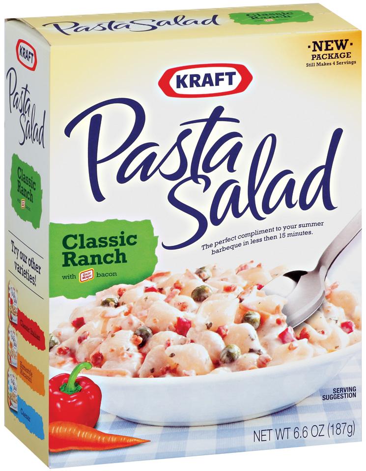 Kraft Pasta Salad W/Bacon Classic Ranch 6.6 Oz Box