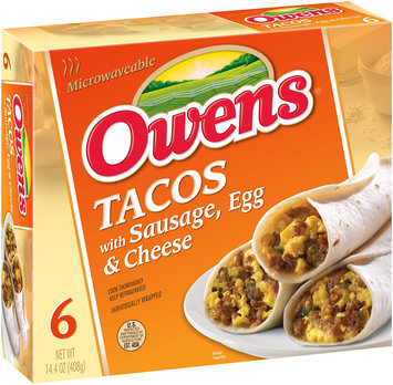 Owens® Tacos with Sausage Egg & Cheese 6 ct Box