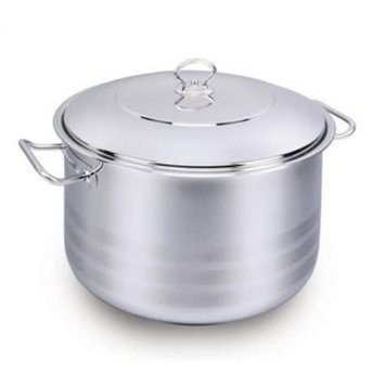 YBMHome A1894 Stainless Steel Capsulated Stockpot With Lid High Polish Finish 3 Quart