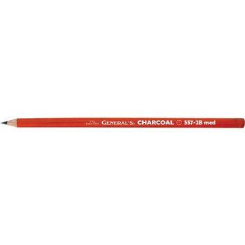 Alvin 557G-2B General Charcoal Pencil - Black