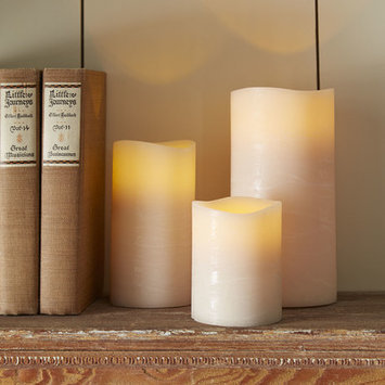 Birch Lane Taupe Flameless Pillar Candle Size: Large