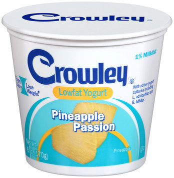Crowley® Pineapple Passion Lowfat Yogurt 6 oz. Cup