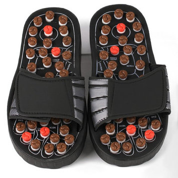 Living Healthy Products Reflexology Sandals - Rotating massage heads -Small for 35
