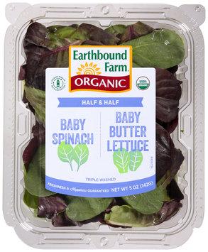 Earthbound Farm® Organic Half & Half Baby Spinach/Baby Butter Lettuce 5 oz. Clamshell