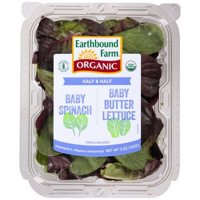 Earthbound Farm® Organic Half & Half Baby Spinach/Baby Butter Lettuce