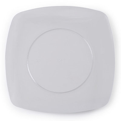 Fineline Settings, Inc Renaissance 5.5 Rounded Square China-Like Plates (Case of 120), Clear
