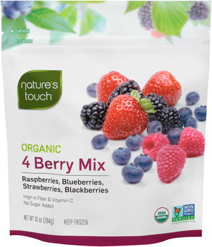 Nature's Touch™ Organic 4 Berry Mix 10 oz. Stand-Up Bag