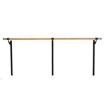 Vitavibe Wall Barre Series Traditional Wood Single Bar Adjustable Height Ballet Barre Kit Size: 4 ft.