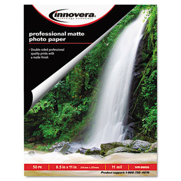 Innovera Photo Paper Heavyweight, 8-1/2 x 11, 50 Sheets/Pack