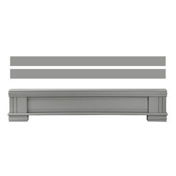Trifecta Industries Eco Chic Baby Dorchester Island Crib 3 Piece Full Size Bed Conversion Kit - Moon Grey