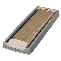 Iris Cat Scratching Board with Tray Color: Gray