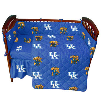 College Covers KENCS Kentucky Wildcats Rotary Solid Baby Crib Set