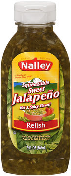 Nalley Squeezable Sweet Jalapeno Hot & Spicy Relish 9 fl oz Squeezable Bottle