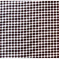 Stwd Gingham Check Fitted Cradle Sheet Color: Brown