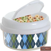 Baby Milano 12 oz Argyle Snack Container Color: Blue