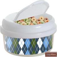 Baby Milano 12 oz Argyle Snack Container Color: Blue