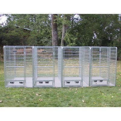 K9 Kennel 4 Dog Galvanized Steel Yard Kennel